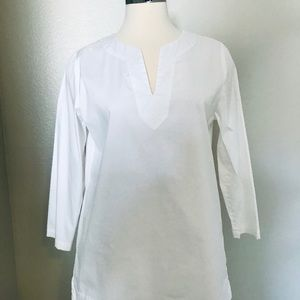 White cotton blouse of great quality, size 10
